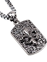 cheap -Men's Skull Vintage Cool Pendant Necklace Chain Necklace , Alloy Pendant Necklace Chain Necklace , Going out Bar