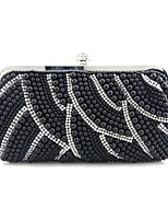 cheap -Women Bags Silk Evening Bag Pearl Detailing for Event/Party All Season Beige Black White