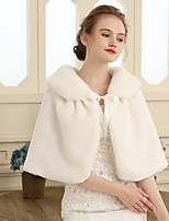 cheap -Sleeveless Faux Fur Wedding Party / Evening Women's Wrap With Lace-up Capelets