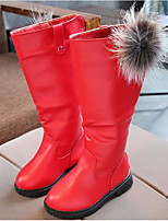 cheap -Girls' Shoes PU Winter Fall Combat Boots Comfort Snow Boots Boots Mid-Calf Boots for Casual Black Fuchsia Red