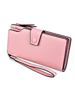 cheap -Women Bags PU Wallet Buttons for Event/Party Shopping All Season Light Purple Fuchsia Blushing Pink Red Black