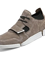 cheap -Men's Shoes Leather Spring Fall Comfort Sneakers for Casual Khaki Gray Black