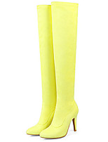 cheap -Women's Shoes Nubuck leather Spring Fall Comfort Novelty Fashion Boots Boots Flat Pointed Toe Knee High Boots for Wedding Party & Evening