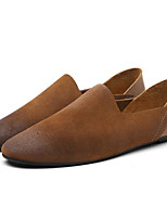cheap -Men's Shoes Cowhide Winter Fall Comfort Loafers & Slip-Ons for Casual Brown Black