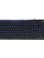 a4tech wk-300 clavier à membrane câblé usb 104 touches rétro-éclairé avec 150cm câble