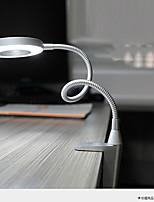 preiswerte -Raumbeleuchtung Einfach Schreibtischlampe Verstellbar An-/Aus-Schalter AC betrieben 220v Silbern