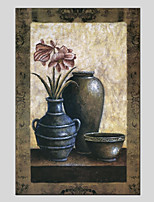 cheap -Hand-Painted Still Life Vertical Panoramic,Modern Canvas Oil Painting For Home Decoration One Panel