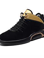 Недорогие -Для мужчин обувь Ткань Зима Осень Флисовая подкладка Удобная обувь Кеды для Повседневные Черный Черный и золотой Черно-белый