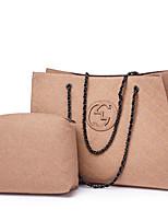 cheap -Women Bags Fur Bag Set 2 Pieces Purse Set Zipper for Casual All Season Khaki Red Black