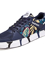 cheap -Men's Shoes PU Spring Fall Comfort Sneakers for Casual Dark Blue Black