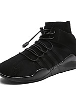 cheap -Men's Shoes Fabric Spring Fall Comfort Sneakers for Casual Outdoor Black/White Gray Black