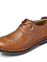 Недорогие -Для мужчин обувь Наппа Leather Зима Осень Удобная обувь Туфли на шнуровке для Повседневные Для вечеринки / ужина Черный Кофейный