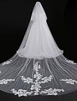 Недорогие -Два слоя Современный Аксессуары Цветочный дизайн Кружевная кромка Свадьба С кружевами европейский Принцесса Крупногабаритные Свадебные