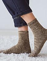 preiswerte -Herrn Socken Baumwolle Gestreift Warm,2pcs Braun Grau