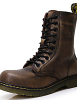 Men's Shoes Nappa Leather Winter Fall Cowboy / Western Boots Fashion Boots Combat Boots Boots Booties/Ankle Boots for Casual Party &