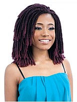 cheap -Spring curl bulk Twist Pre-loop Crochet Braids Dark Black Hair Extensions 8Inch Kanekalon Hair Braids