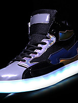 cheap -Men's Shoes PU Spring Fall Light Up Shoes Sneakers for Casual Black White