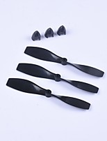 cheap -Crab Kingdom® DIY Air Plane Model Parts Propeller 75*2mm 5 Pairs Black