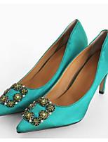 economico -Da donna Scarpe Gomma Seta Primavera Estate Decolleté scarpe da sposa A stiletto Appuntite per Matrimonio Casual Nero Grigio Viola Verde