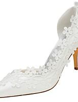 preiswerte -Damen Schuhe Stretch - Satin Frühling Herbst Pumps Hochzeit Schuhe Stöckelabsatz Spitze Zehe Applikation für Kleid Party & Festivität