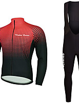 cheap -Cycling Jersey with Bib Tights Unisex Long Sleeves Bike Jersey Clothing Suits Bike Wear Fast Dry Geometric Cycling / Bike Black/Yellow