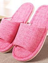 Недорогие -Для женщин Обувь Полиамидная ткань Хлопок Зима Удобная обувь Тапочки и Шлепанцы Плоские для Повседневные Пурпурный Коричневый Морской
