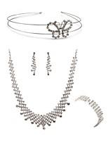 abordables -Mujer Para la Cabeza Los sistemas nupciales de la joyería Cristal Europeo Moda Boda Fiesta Diamante Sintético Legierung Corazón Mariposa