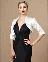cheap -3/4 Length Sleeves Satin Wedding Party / Evening Women's Wrap Shrugs