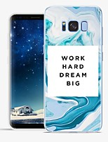 cheap -Case For Samsung Galaxy S8 Plus S8 Pattern Back Cover Word / Phrase Marble Soft TPU for S8 Plus S8 S7 edge S7 S6 edge plus S6 edge S6