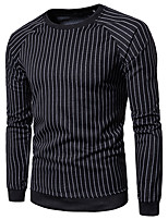 cheap -Men's Daily Sweatshirt Print Round Neck Micro-elastic Cotton Long Sleeve Winter Spring/Fall