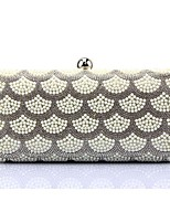 Women Bags Metal Evening Bag Pearl Detailing for Event/Party All Season Silver Gold