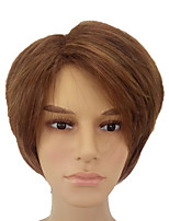 cheap -Men Synthetic Wig Short Straight Brown Natural Wigs Costume Wig