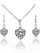 cheap -Women's Jewelry Set Bridal Jewelry Sets Lovely Fashion Daily Evening Party Silver Plated 1 Necklace Earrings
