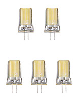 5pcs 2W G4 LED Bi-pin Lights 1 leds COB Warm White Cold White 1lm 3500/6500K AC 220-240V