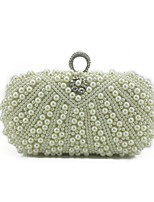 Women Bags PU Evening Bag Beading for Wedding Event/Party All Season Beige Champagne