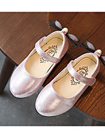 cheap -Girls' Shoes Leatherette Spring Fall Combat Boots Flower Girl Shoes Comfort Flats Walking Shoes Buckle for Casual Gold Silver Pink