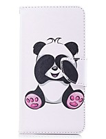 cheap -Case For OnePlus OnePlus 5T Card Holder Wallet with Stand Flip Magnetic Full Body Cases Panda Hard PU Leather for OnePlus 5T
