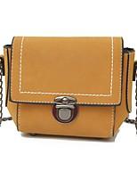 cheap -Women Bags PU Crossbody Bag Buttons Zipper for Casual Office & Career All Season Black Red Blushing Pink Gray Yellow