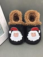 Недорогие -Девочки обувь Натуральная кожа Зима Осень Обувь для малышей Кеды для Повседневные Белый Черный Желтый Красный Розовый