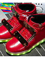 Boys' Shoes Synthetic Microfiber PU Winter Fall Comfort Sneakers for Casual Red Black White