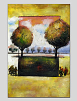 cheap -Hand-Painted Floral/Botanical Vertical Panoramic,Modern One Panel Canvas Oil Painting For Home Decoration