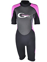cheap -Women's 3mm Wetsuits Swimming Neoprene Diving Suit Short Sleeves Diving Suits Spring, Fall, Winter, Summer Fashion