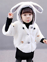 cheap -Girls' Daily Patchwork Suit & Blazer,Polyester Long Sleeves Cute White