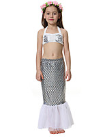 cheap -The Little Mermaid Skirt Kid Halloween Festival / Holiday Halloween Costumes Silver Mermaid