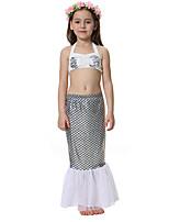 abordables -The Little Mermaid Falda Niño Halloween Festival / Celebración Disfraces de Halloween Plateado Sirena