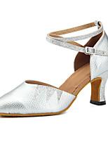 """cheap -Women's Modern Leatherette Sneaker Training Trim Low Heel Silver Gold 1"""" - 1 3/4"""" Customizable"""