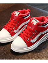 cheap -Girls' Shoes PU Winter Fall Comfort Sneakers for Casual Pink Red Black