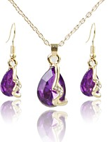 cheap -Women's Jewelry Set Pendant Necklace Simple Fashion Wedding Daily Crystal Gold Plated 1 Necklace Earrings
