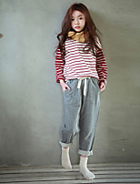 cheap -Girls' Solid Pants,Polyester Winter Cute Active Blue Gray