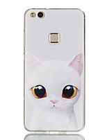abordables -Coque Pour Huawei Honor 7 / Huawei P9 Lite / Huawei Honor 5C P10 Lite / P8 Lite (2017) Ultrafine / Motif Coque Chat Flexible TPU pour P10 Lite / P10 / Huawei P9 Lite
